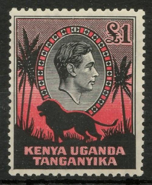Kenya Uganda Tanganyika #85a 1938 George VI Pound