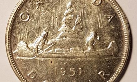 Canada Unc 1951 Arnprior Silver Dollar