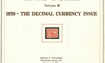 Canada #15 Unused 1859 5c on Gerald Wellburn title page