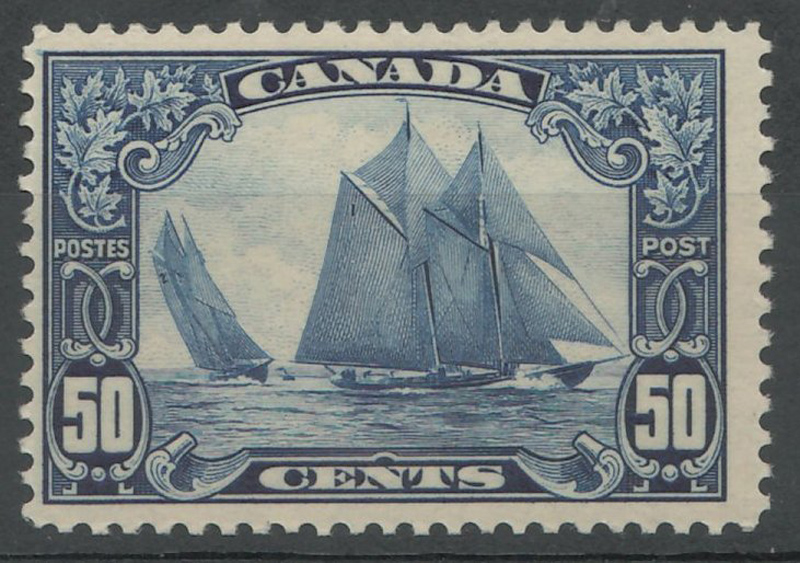 50c Bluenose stamp in stock album