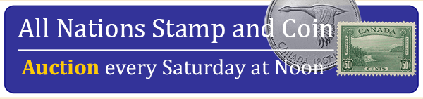Home - All Nations Stamp and Coin - Weekly Auction