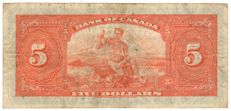 back of the bank note