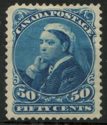 Canada #47 Mint HR 1893 50c Widow Weeds