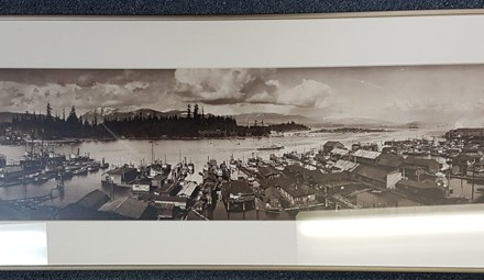 Coal Harbour, Vancouver, B.C. 1921 framed Dominion photo