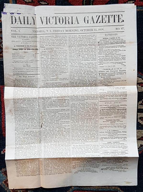 Daily Victoria Gazette full-length unfolded