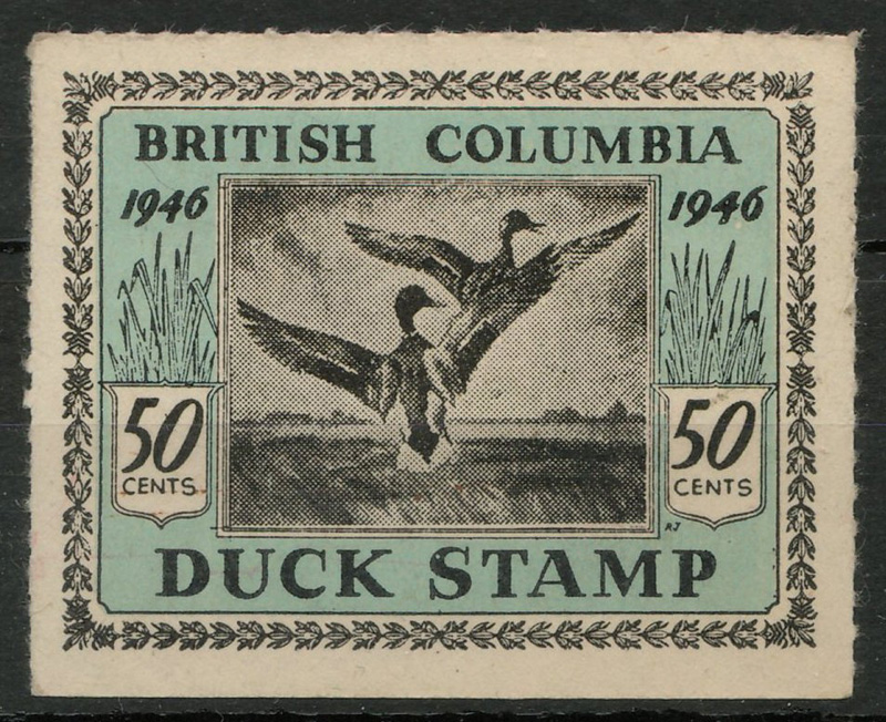 1946 duck stamp in stock book