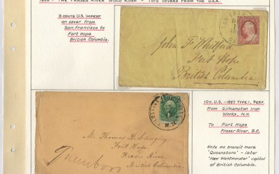 Page 14 1858 Two Covers from the USA to Fort Hope, Wellburn Fraser River Gold Rush Collection