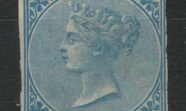 B.C. #4 Fine Mint O.G. 1865 10c Blue