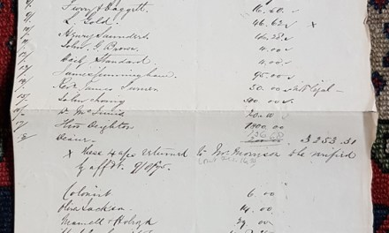 Handwritten list of Gassy Jack's debts in our Auction 9th March 2019