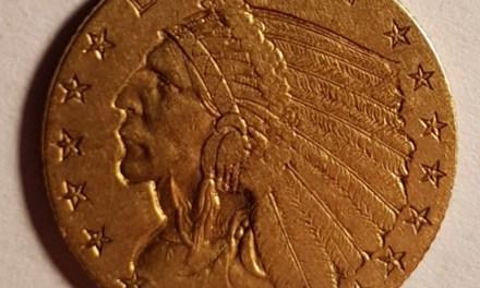 U.S.A. XF 1908 Indian Head $2.50 Gold first year Quarter Eagle