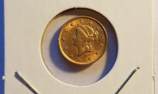 U.S.A. AU 1853 Gold Dollar