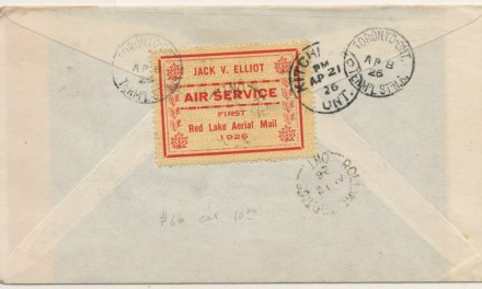 Canada #CL7 8/12 Apr 1926 Registered Toronto/Rolling Portage Cover