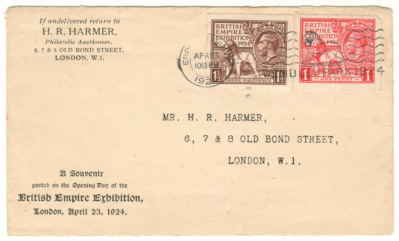 Cover addressed Mr. H. R. Harmer,