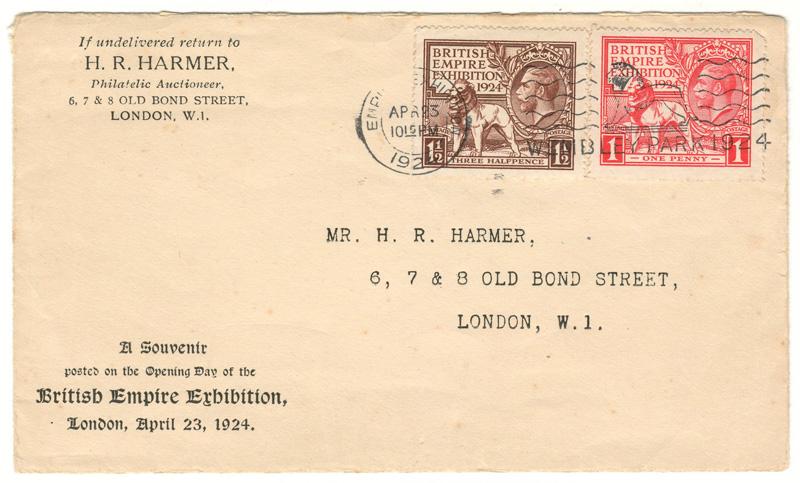 Cover addressed Mr. H. R. Harmer,