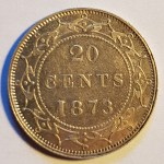 Lot 188 Newfoundland XF+ 1873 Silver 20 Cents $900.+