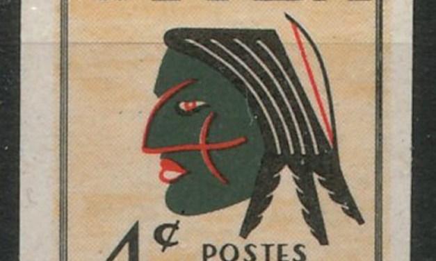 Canada 1955 A.B.N.Co 4c Iroquois Mask Essay