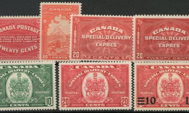 Canada #E2/E9 Mint 1922/1939 Special Deliveries