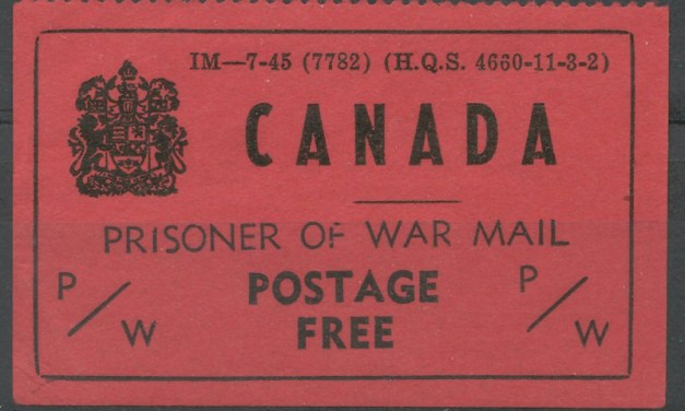 Canada #PWF5 VF Mint 1945 Prisoner of War Free Frank corner crease