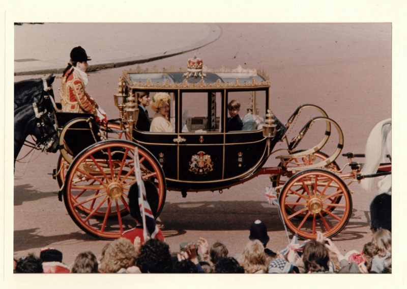 Photograph of Royal Carriage with Queen Mother