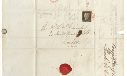 G.B. #1 Fine red M/C Used 19 Au 1840 Lincoln & Lindsey Banking F.L.S.