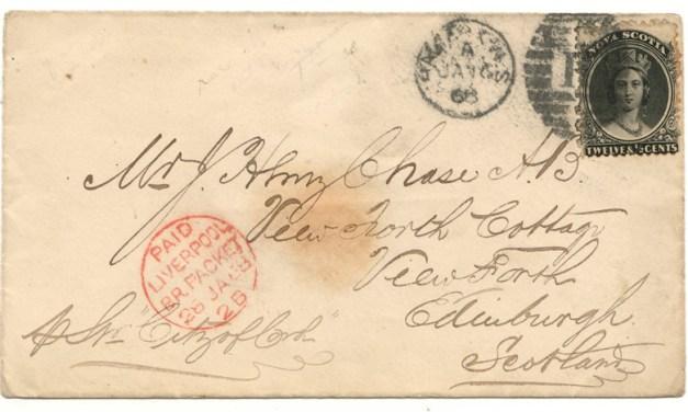 Nova Scotia #13 1868 10c Cover to Scotland