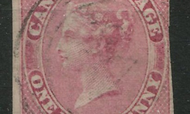 Canada #8a Used 1857 1/2d Lilac Rose