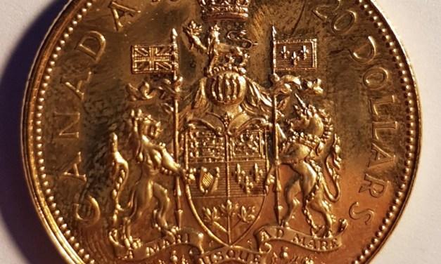 Canada BU 1967 Gold 20 Dollars .529oz AGW