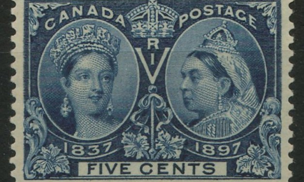 Canada #54 VF+ Never Hinged 1897 5c QV Jubilee Gem