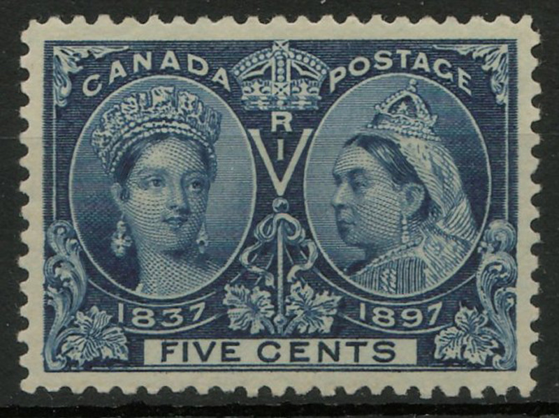 Stamp Victoria young head and Jubilee head