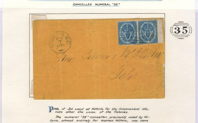 Victoria, B.C. 7 Nov 1870 6d Cover to Yale ex Wellburn