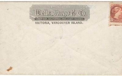 Wells Fargo Unu Victoria, V.I. 3c Small Queen Cover