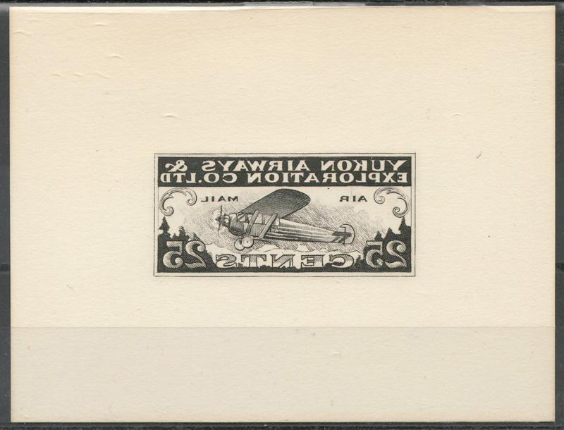 front of framed stamp