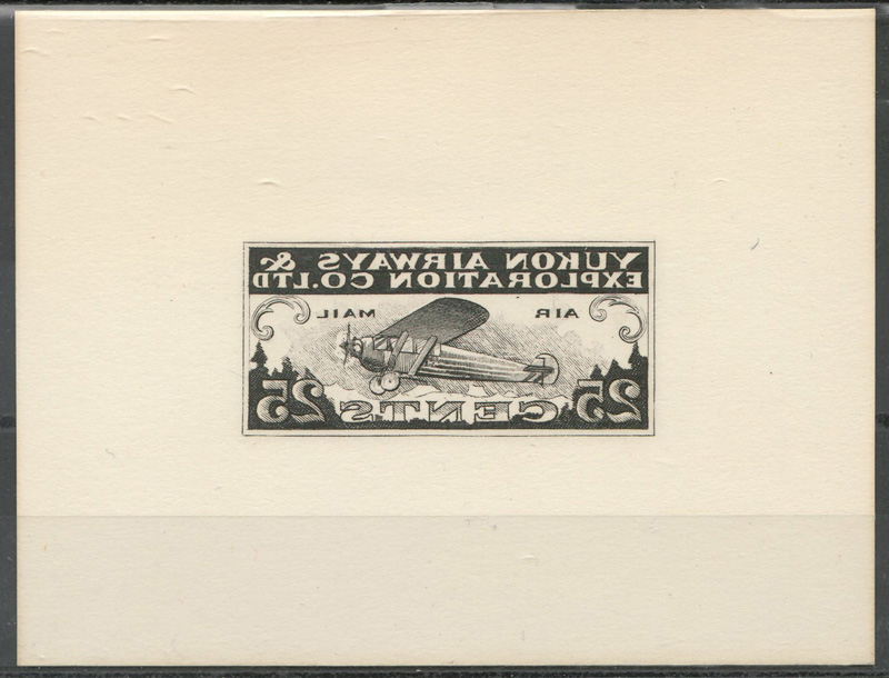 front of framed stamp