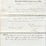 Intercolonial Railway 1869 Marcus Smith appointment letter