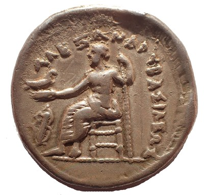 Reverse Zeus seated with eagle