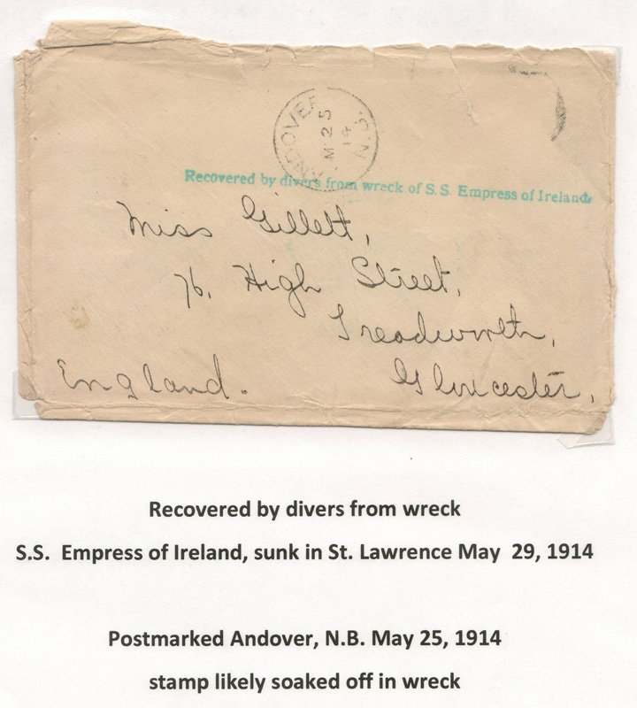 cover addressed Miss Gillett in England