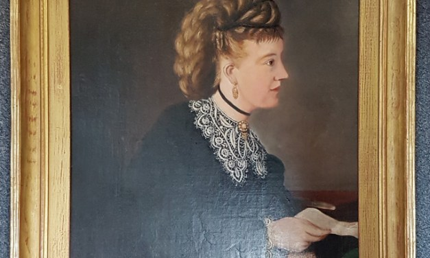 Princess Louise framed, professionally restored oil painting