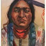 Chief Sitting Bull 14 Mr 1910 1c Colorado L. Peterson colour Postcard
