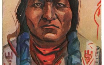 Chief Sitting Bull 14 Mr 1910 1c Colorado L. Peterson colour Postcard