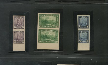 Canada #149b-159a VFNH Scroll Imperf Vertical Pairs Set
