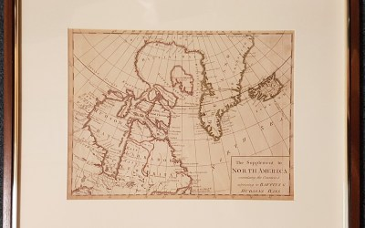 Arctic 1786 22×18″ framed Baffin & Hudson Bay Map