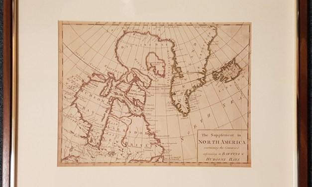Arctic 1786 22×18″ framed Baffin & Hudson Bay Map