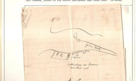 Page 80, Sam Greer Land claim letter & hand drawn map, Historic Vancouver