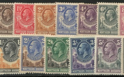 Northern Rhodesia #1/16 Mint 1925/1929 George V (15)