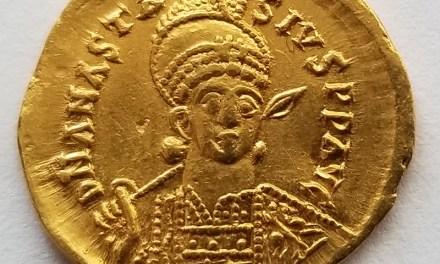 Anastasius I 491-518AD 4.37 gram Gold Solidus from Constantinople