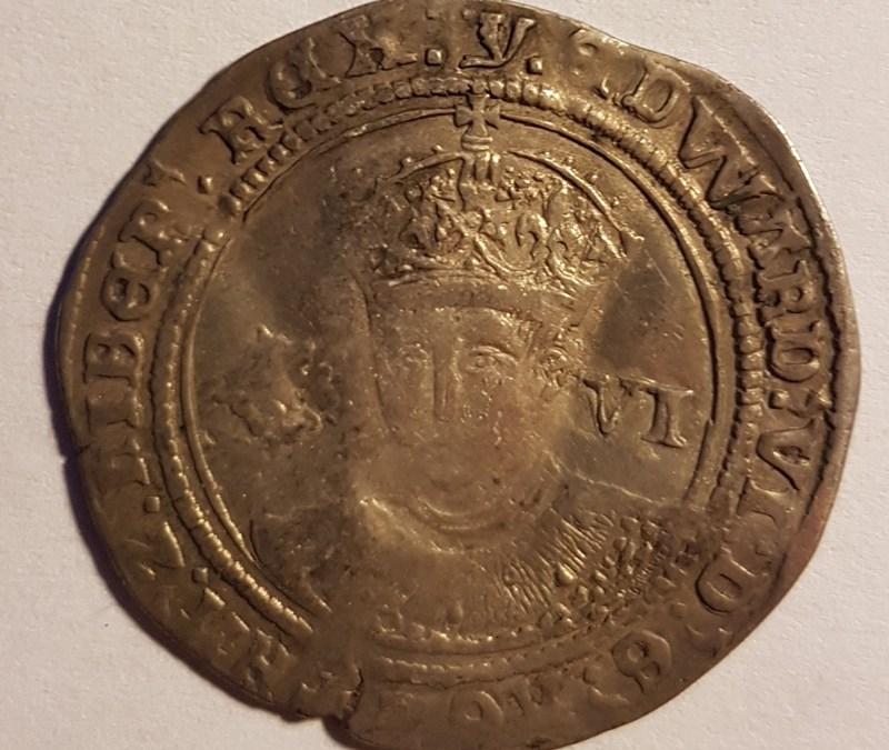 England Fine 1553 Edward VI hammered Silver 6 Pence