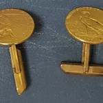 U.S.A. 1909 & 1913 Indian Head Gold Quarter Eagle cufflinks