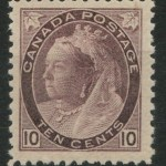 Canada #83 F/VF Never Hinged 1898 10c Victoria Numeral