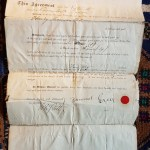 Sam Greer Signed Lot 1 Block 4 English Bay document