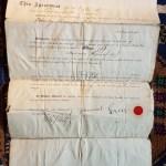 Sam Greer Signed Lot 1 Block 4 English Bay document